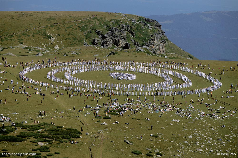 The gathering of the Universal White Brotherhood in the Rila Mountains in Bulgaria