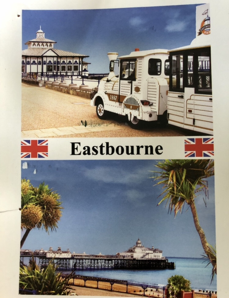 A postcard from the beach at Eastbourne